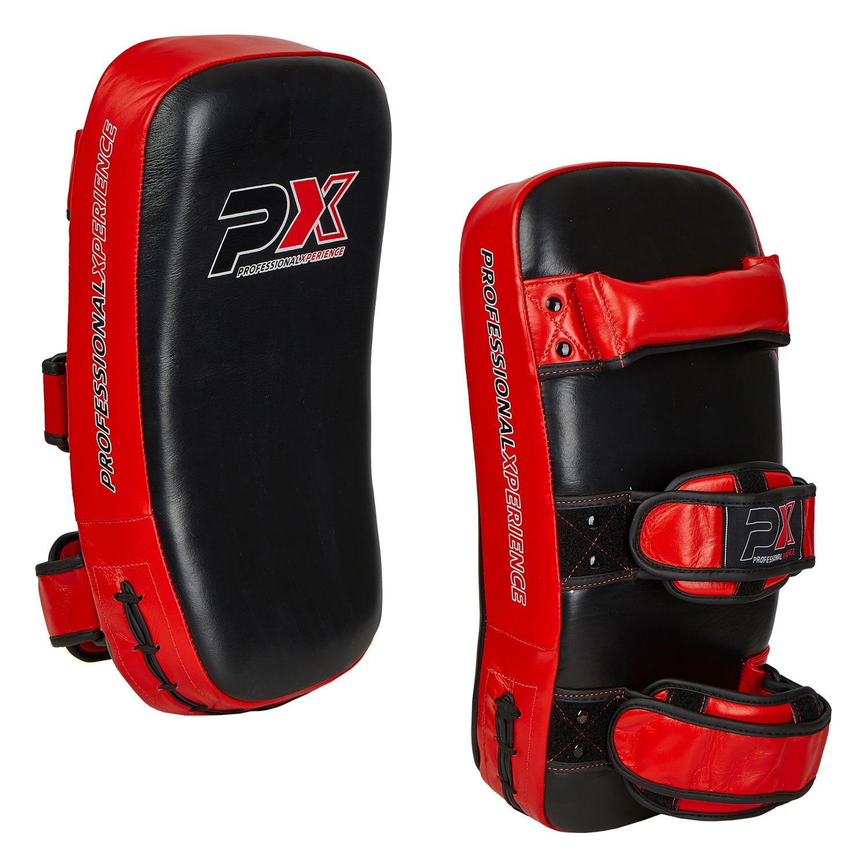 PX Thai pad, Echtleder, paarweise, schwarz-rot