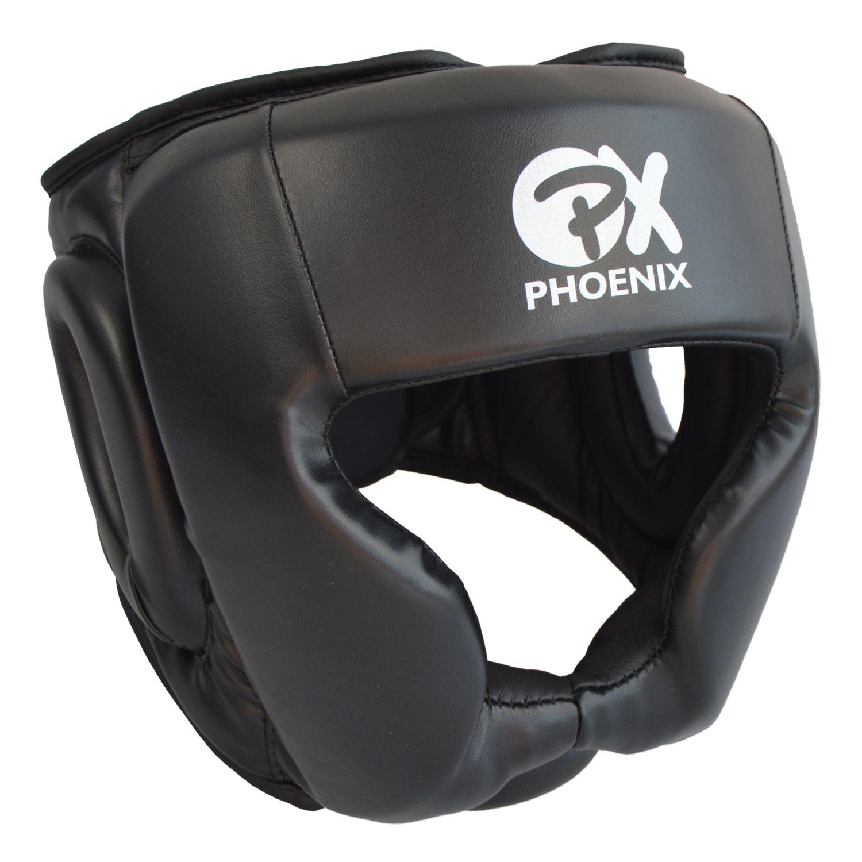 PX Kopfschutz Kunstleder schwarz