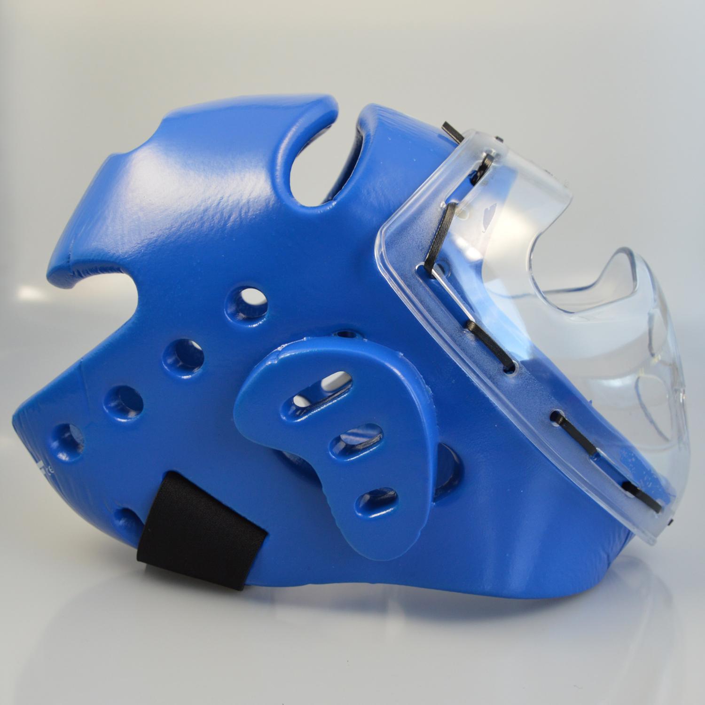 Kopfschützer blau Schaumstoff, Maske, WTF