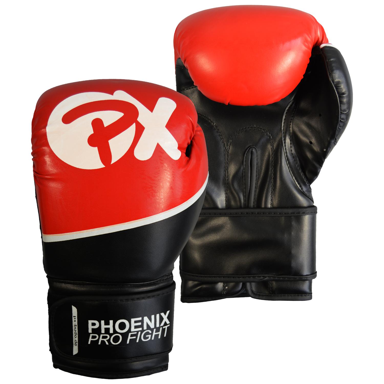 PX PRO FIGHT Boxhandschuhe PU schw-rot
