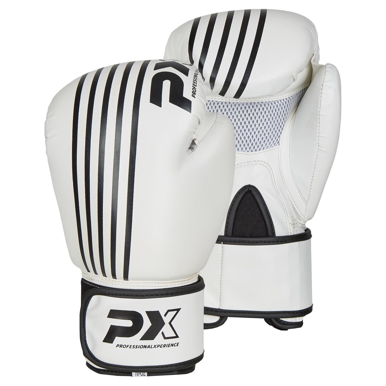 PX Boxhandschuhe SPARRING, PU weiß-schwarz