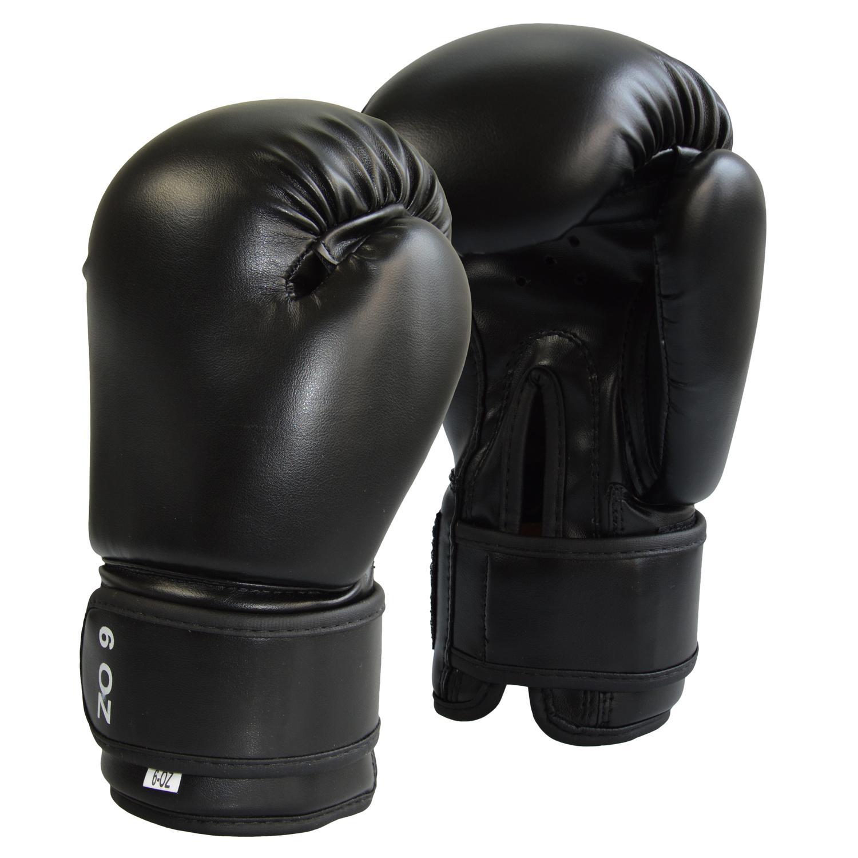Junior Boxhandschuhe Kunstleder schwarz