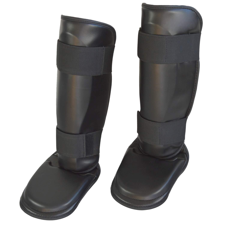 Schienbein- und Spannschutz PU schwarz