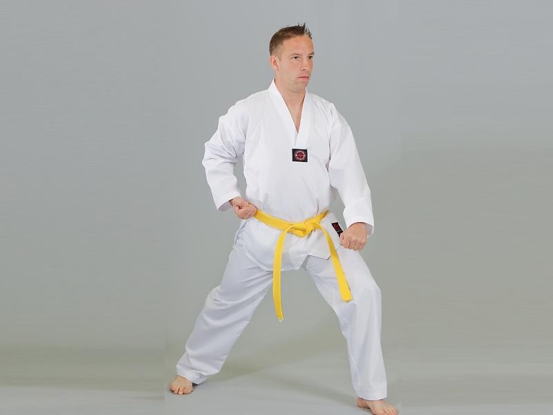 Taekwondo Dobok Ribbed Standard w Rev