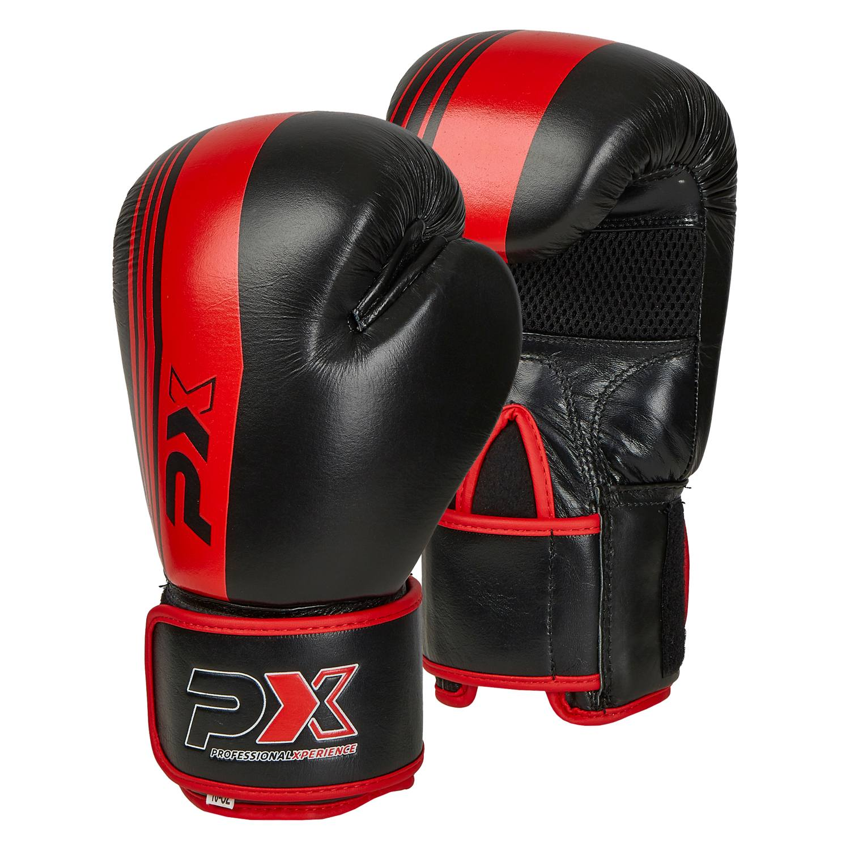 PX Boxhandschuhe schwarz-rot Leder