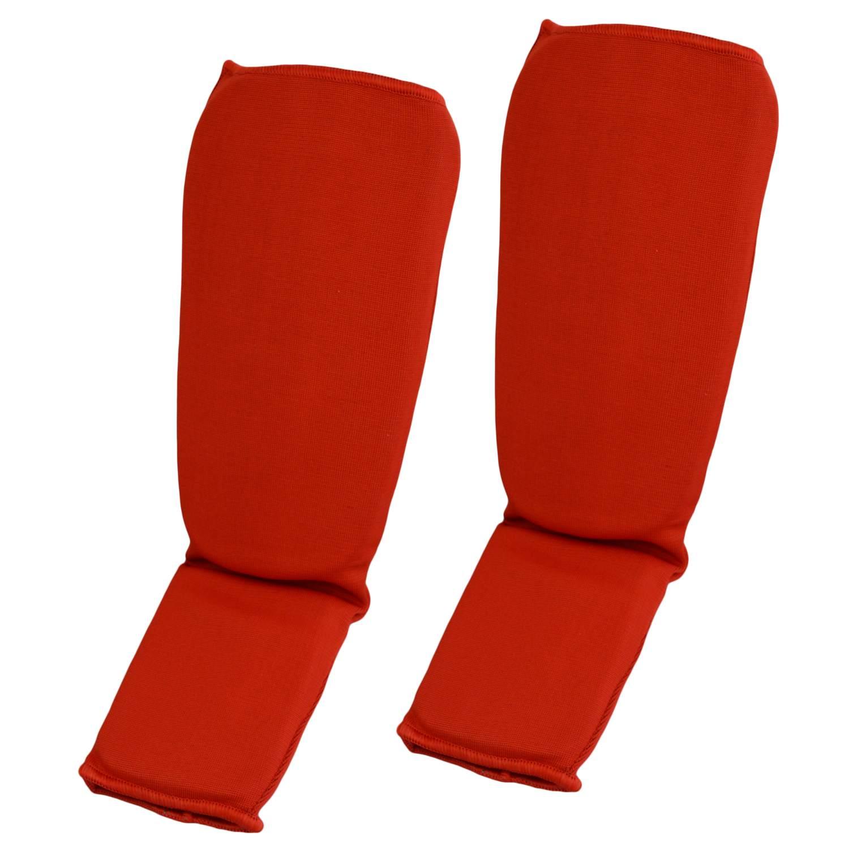 Schienbein- und SpannschonerStoff rot