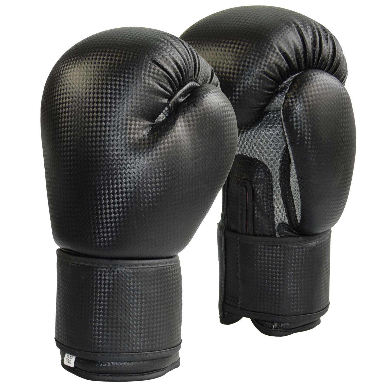 Boxhandschuhe Carbon Optic schw-Mesh grau