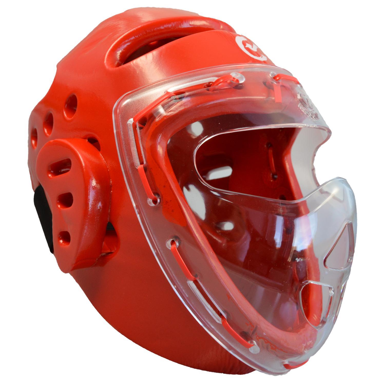 Kopfschützer rot Schaumstoff, Maske, WTF